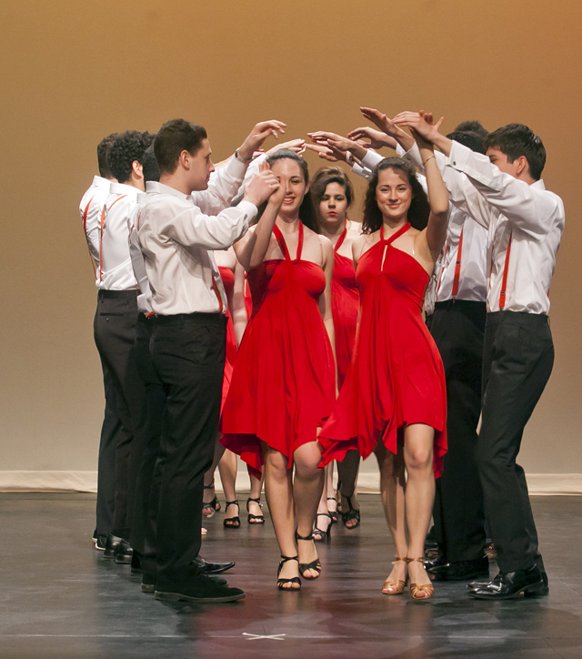 Students perform the salsa.