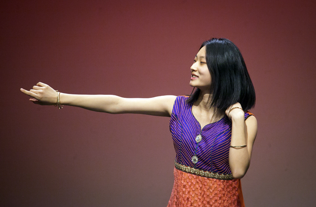 A student performs a Bollywood-inspired dance.