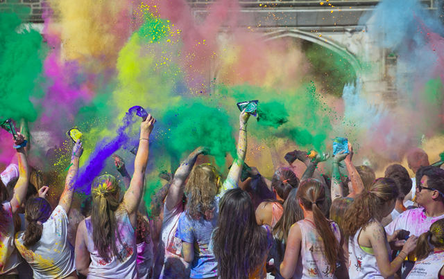 Holi festival and color run