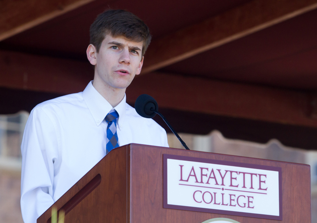 Jason Devlin '15 gives a reflection called