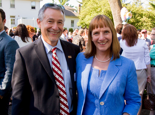 President Alison Byerly with her husband, Stephen Jensen