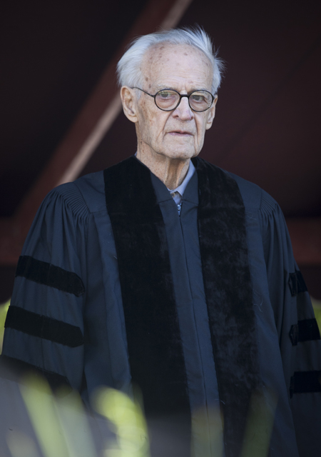 Karl Stirner receives an honorary Doctor of Fine Arts degree.
