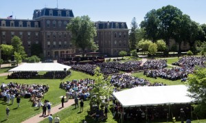 Commencement 2015 on the Quad