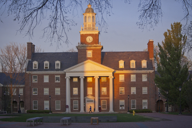 Watson Hall in the early evening