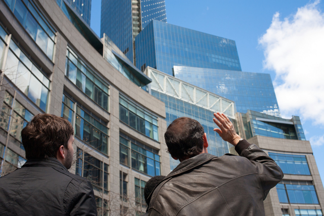 The class explores the Time Warner complex on Columbus Circle.