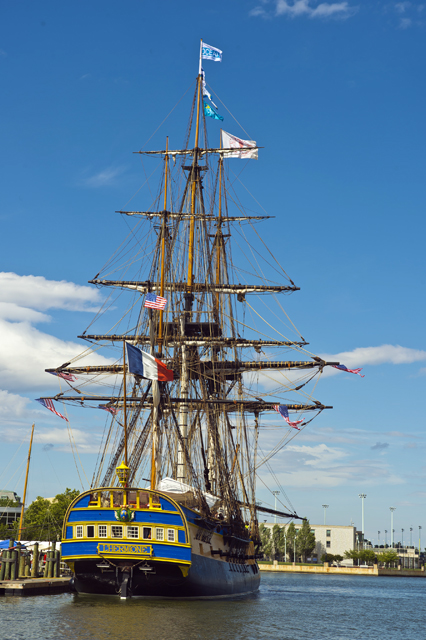The Hermione docks in Annapolis, Md.