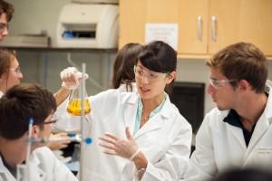 Professor Lindsey Soh teaches a course.