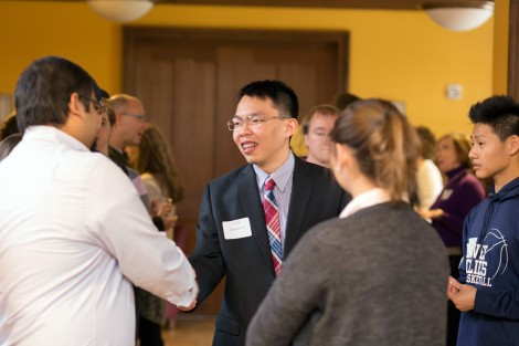 The Student -Alumni Health Professionals Open House in Scott Hall, photo by Clay Wegrzynowicz '18