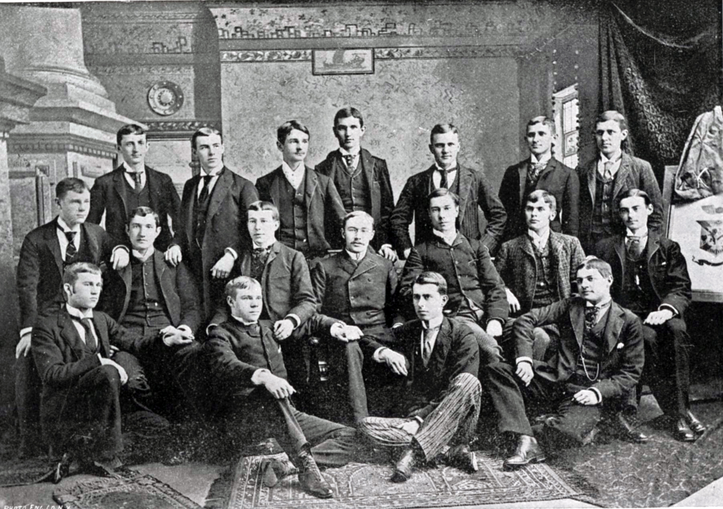 The brothers of Delta Kappa Epsilon in 1890
