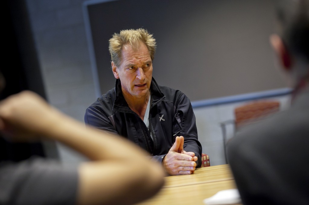 Julian Sands discusses his craft with students.