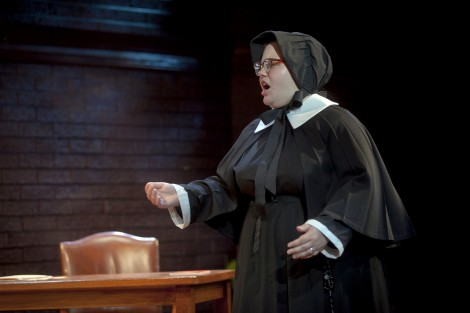 Megan Thomas '16 as Sister Aloysius Beauvier