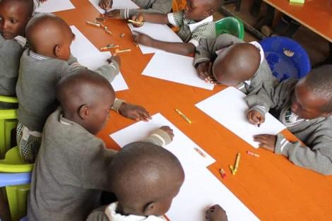 Students at the Blair-Serem School in Kibargoiyet, Kenya.
