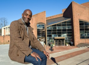 Paterson Joseph outside the Williams Center