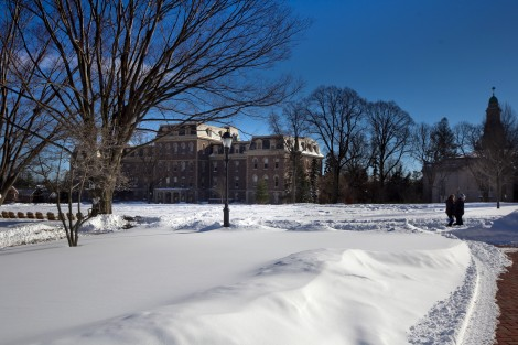 Pardee Hall from across the Quad