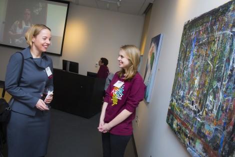Professor Ingrid Furniss and Julia Brennan '17