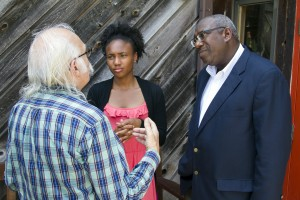 Drew Davis '17 and Professor Hutchinson speak with Appalshop's Herb Smith.