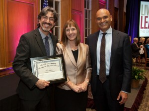 Luis Schettino, assistant professor psychology, received the Carl R. and Ingeborg Beidleman Research Award.