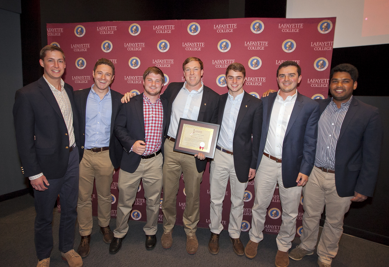 The Commitment to Service Award goes to Delta Kappa Epsilon.