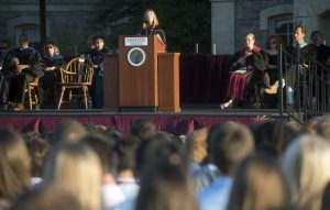 First year students gather  on The Quad for the Convocation at Lafayette College on Sunday August 28, 2016.