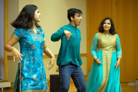 Students perform songs, dances, and readings during the College's celebration of Eid al-Adha, the Muslim