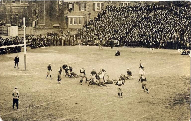 Lafayette and Lehigh battle for the 1921 national championship. We won.
