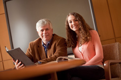 Alan Childs and EXCEL Scholar Lauren Howland '11