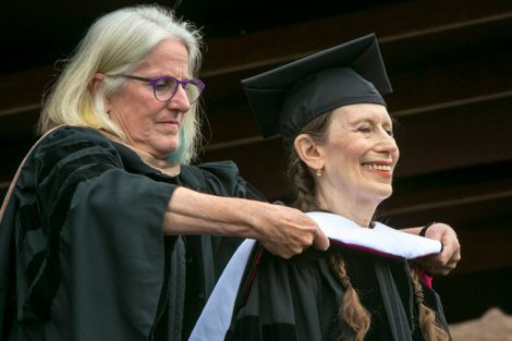 Meredith Monk receives her honorary degree.