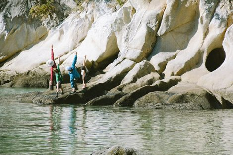 Yoga at Abel Tasman National Park on the north end of New Zealand's South Island. Submitted by Mason Keel '18