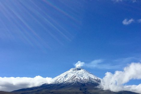 A view of the Cotopaxi volcano in Ecuador. Submitted by Annika Asplund '19