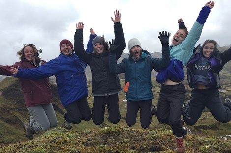 Students at Coca-Cayambe National Park in Ecuador, 14,000 feet above sea level. Submitted by Annika Asplund '19