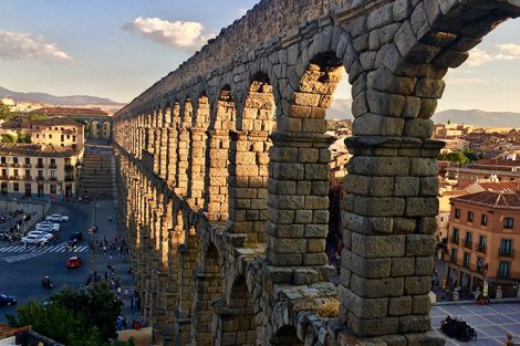 The Roman Aqueduct in Segovia, Spain. Submitted by Katie DePaolis '18