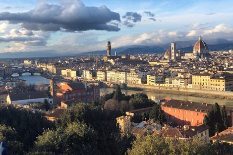 A view of Florence, Italy, from Piazzale Michelangelo. Submitted by Kim Evans '18