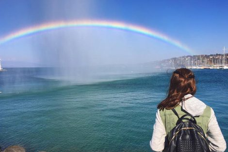 A rainbow in Geneva, Switzerland. Submitted by Annika Leiby '18