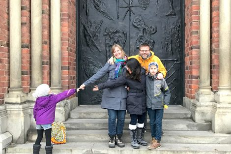 Jasmine Puri '18 and her host family in Denmark. Submitted by Jasmine Puri '18