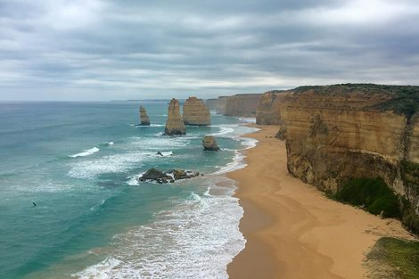 The Twelve Apostles, a collection of limestone stacks off the shore of Port Campbell National Park, Australia. Submitted by Sydney Wight '18