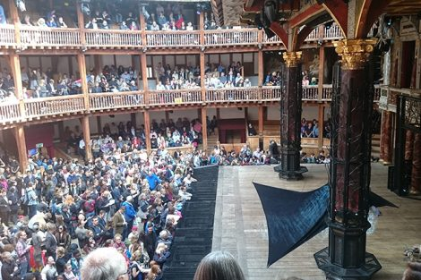 A performance of MacBeth at the Globe Theater in London. Submitted by Matt Peters '19