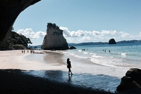 Cathedral Cove in Coromandel, New Zealand. Submitted by Iuliia Vasileva '18