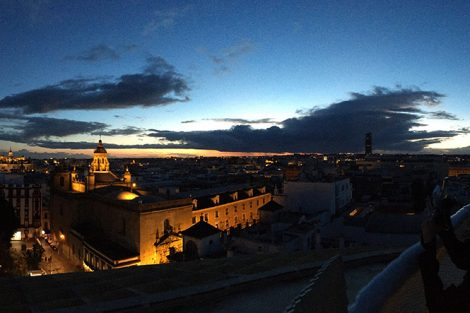 Seville, Spain at night. Submitted by Ryan Brenner '19