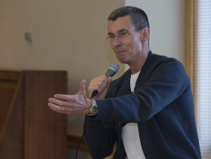 Chip Bergh speaks to Lafayette students.