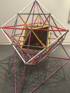 Art from the Buckminster Fuller exhibit