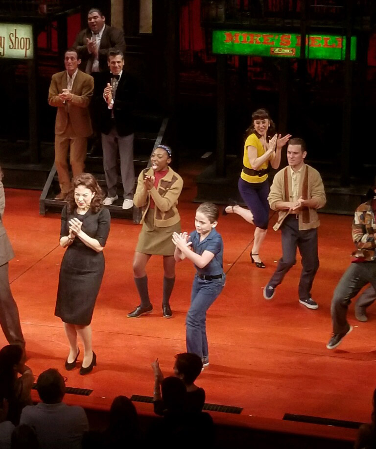 Brandi Porter '13 performs in A Bronx Tale