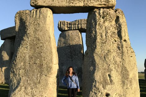 Chloe Ortega poses for a photo at Stonehenge.