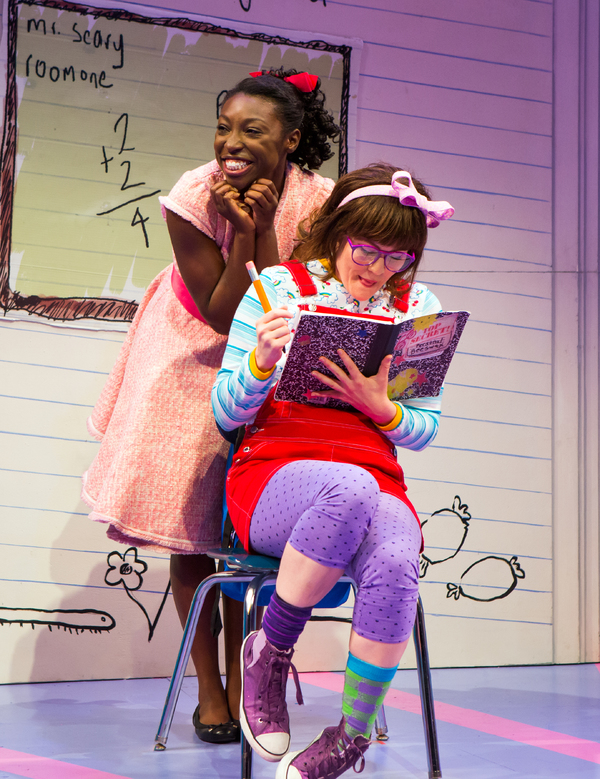 Brandi Porter '13 with Kristin Stokes in the off-Broadway production of Junie B's Essential Survival Guide to School