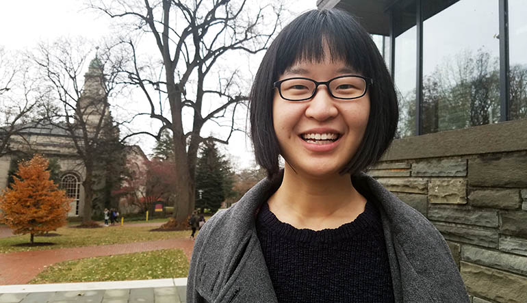 Danhui Zhang '18, chemical engineering