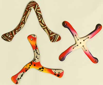 Three boomerangs