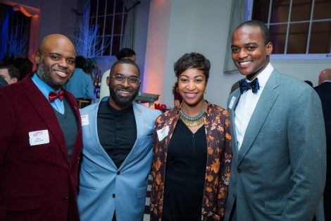 Dean of Equity and Inclusion Chris Hunt, Robert Young'14, Terese Sydonna Brown '14, and Rasheim Donaldson '06