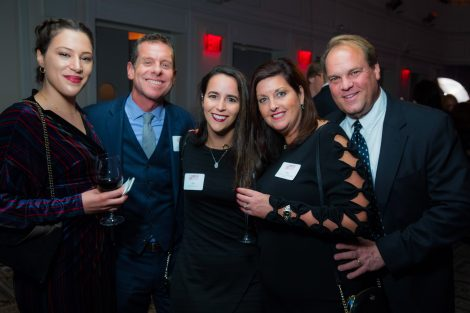 Charlotte Corbo '15, Fred Raffetto '87, Ally Simels '16, Paige Macdonald Matthes '89 P'19, and Steve Matthes