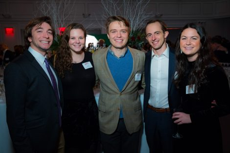 Christopher Wickwire '16, Megan Kaveney '15, John Crerand '09, Brendan Lawson '11, and Kelly Caggainello '13
