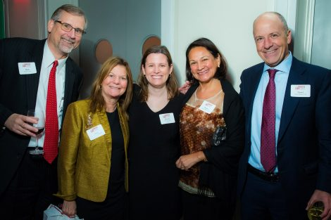 Mark Eyerly; Marie Enea P'03 '06; Mary Jo Lodge, and Danitza and Daniel Miller P'20