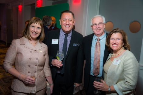 President Alison Byerly, Scott Kyreakakis '87, and Jim and Margie Rodgers '87
